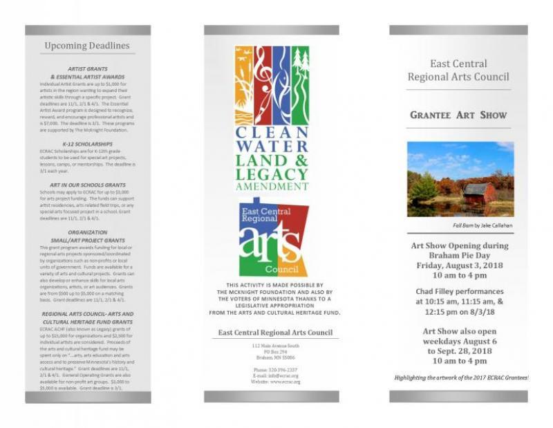 ECRAC Final Grantee Art Show 2018 Brochure