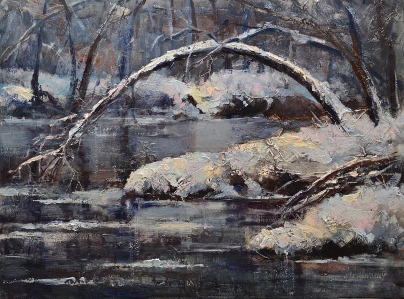 First Ice oil by Mary Ann Cleary