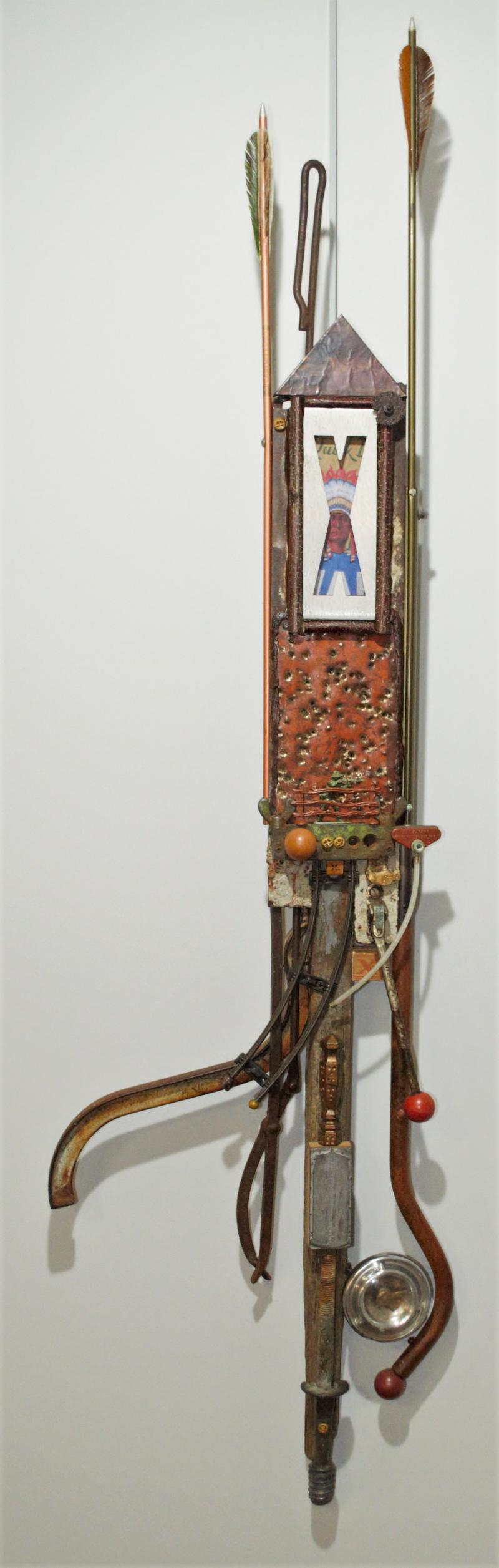 Stolen Stars, found object assemblage by Gary Carlson of Rush City, MN