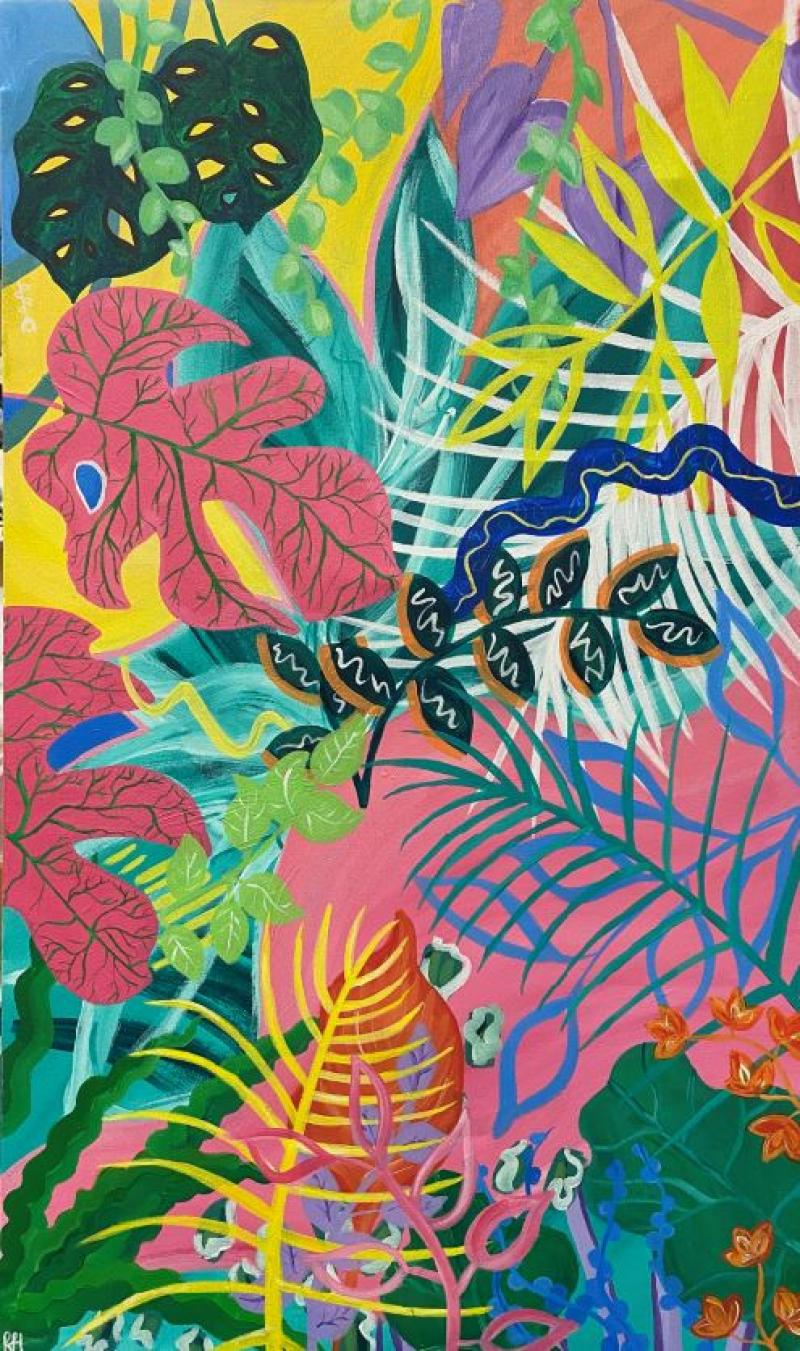 Jungle Vibes by Isabelle Helseth - Merit Award, Painting Opaque