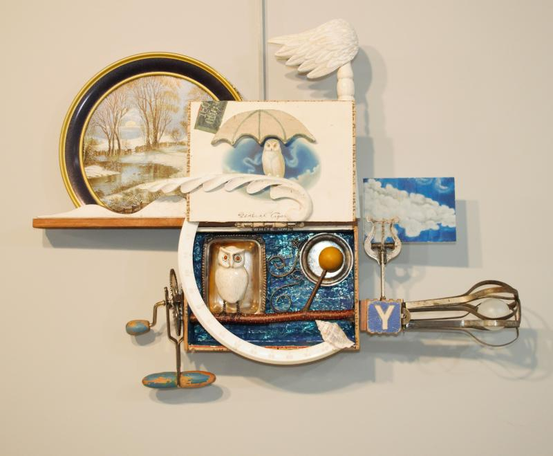 Untitled, found object assemblage by MaryAnn Carlson of Rush City, MN
