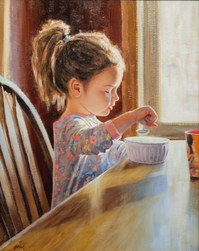 Cheerios, oil on canvas by Nathan Hager of Isanti, MN