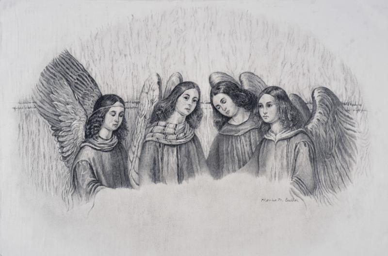 The Four Angels of Torcello by Marilyn Cueller - Merit Award, Drawing