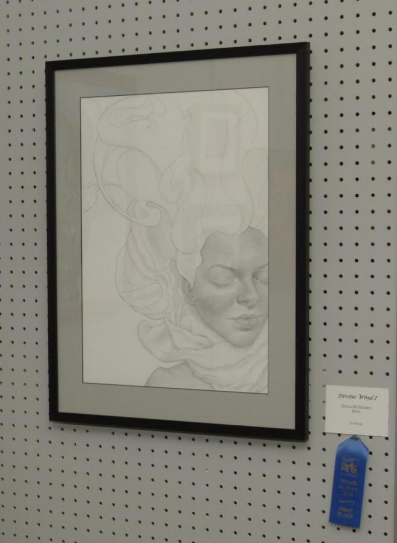 "First Place Drawing- ""Divine Wind I"", by Erica Belkholm of Mora"