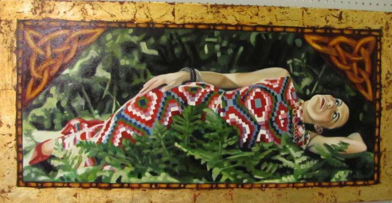 "Second Place Opague Painting - ""Reclining Venus"", by Jessie DeCorsey of Lindstrom"