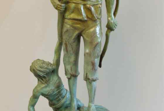 The Hunter, bronze by James Sullivan of Cambridge, MN