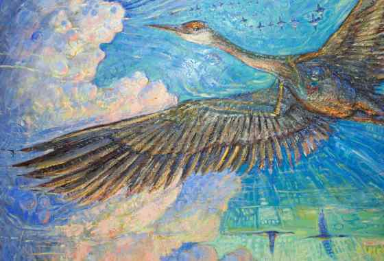 Retorno De Las Aves, oil on canvas by Jim Larson of Milaca, MN