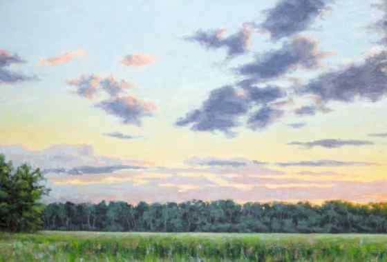 View from the Isanti Boardwalk, oil on stretched canvas by Nathan Hager of Isanti, MN